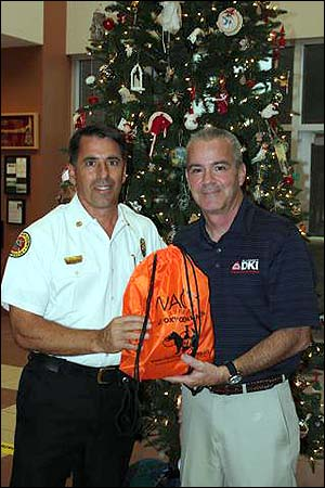 All County DKI Donates Pet Oxygen Masks to Local Fire Department