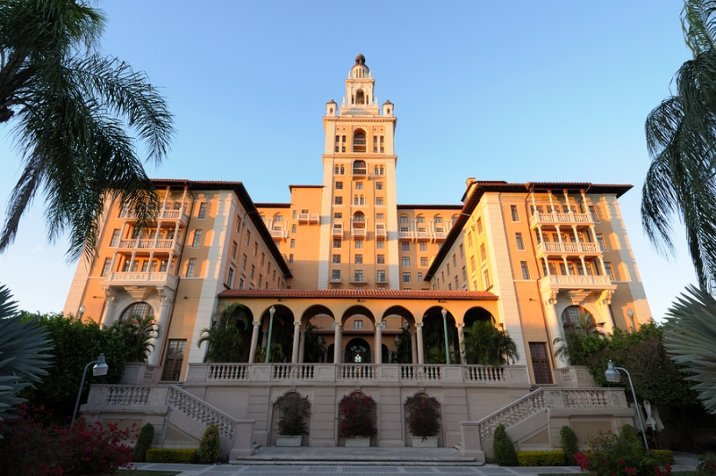 The historic Biltmore Hotel in Coral Gables, Florida