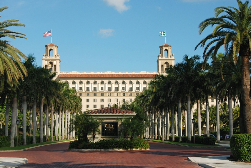 The historic Breakers Hotel in Palm Beach, Florida