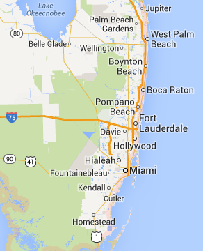 Map of All County DKI South Florida service area
