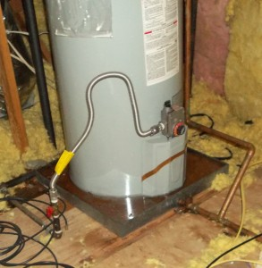 Photo of water heater overflow clean-up